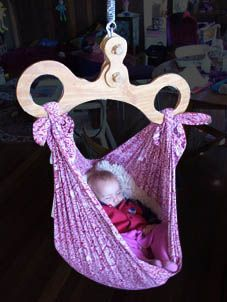 Happy Hangup Baby Hammock $225 with shipping from happyhangup.com. Color: something neutral