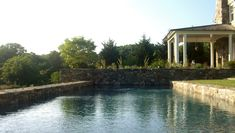 stone swimming pool greenwich ct porch outdoor fireplace