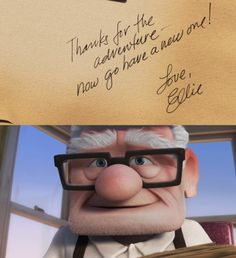 I effing love this movie. Just beautiful. Thumbs up, Pixar.