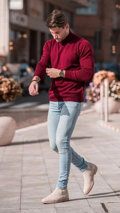 Mens fashion trends - 39 Casual Street Style Outfit For Young Man Outfits Casual, Stylish Mens Outfits, Men Casual, Outfits For Men, Clothes For Men, Basic Clothes, Men's Outfits, Stylish Clothes, Fashion Clothes