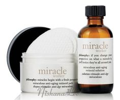 New Philosophy Miracle Worker Anti-Aging Retinoid Solution 2 oz & 60 Pads NO BOX #Philosophy