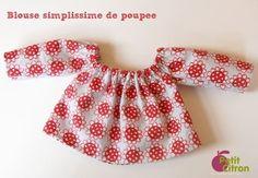 Blouse simplissime pour poupée