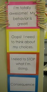 I like this system of classroom management because it makes the individual students think about their own behavior and makes their own behavior their responsibility. It is also very visual so students can see how they are doing on a day-to-day basis. Classroom Behavior Chart, Kids Behavior, Behavior Plans, Kindergarten Behavior Charts, Good Behavior Chart, Behavior Board, Kindergarten Curriculum, Classroom Procedures, Classroom Displays