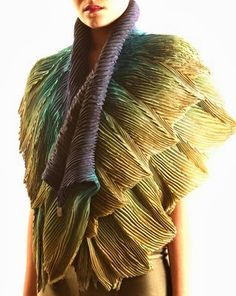 """Anne Selby creates amazing pleated """"Arashi Shibori"""" Scarves. Anne Selby's work is a fusion of high-level artistic and hand-making skills..."""