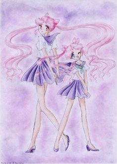 Chibi Usa and Kousagi by ~lady-narven on deviantART
