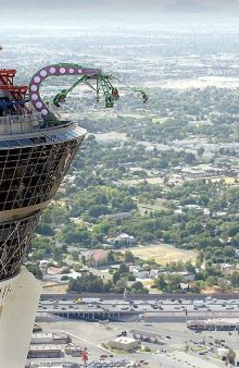 Rides from rooftop of stratisphere