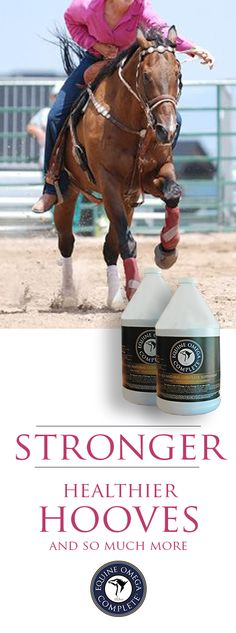 Barrel Racers... EOC Promotes the Growth of a Strong, Healthy Hoof. Omega 3s have been shown to increase the absorption of calcium in the stomach. You will see an obvious improvement in healthy hoof growth in the first month. $59.95 per month. Click to learn more. http://www.o3animalhealth.com