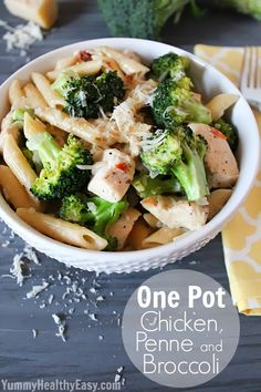 One Pot Chicken, Penne and Broccoli - Classy Clutter