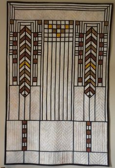 Beautiful Frank Lloyd Wright Inspired Quilt Quilt