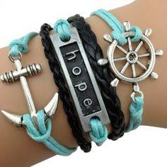"""Sailor """"Hope"""" Arm Party Bracelet"""