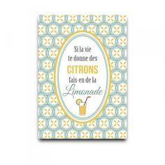 affiche Citrons Dodo&Cath - Deco Graphic