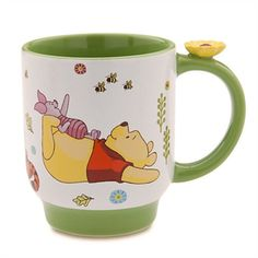 Winnie the Pooh and Friends with Flower Disney Mug / Cup Winnie The Pooh Mug, Winnie The Pooh Friends, Disney Winnie The Pooh, Pooh Bear, Tigger, Eeyore, Disney Coffee Mugs, Friends Coffee Mug, Friend Mugs