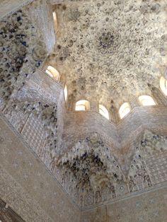 Inside nasdrid palaces, Alhambra, Granada , Spain.