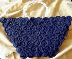 Vintage Purse Bag early 40's era- Navy Blue Gimp -Lucite Handles Zipper closure #ME #EveningBag