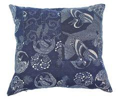 Patch Katazome | Camel & Grey #pillows #boro #indigo #katazome