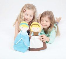 Rags to riches. A Cinderella doll that transforms with a flip of skirt. Free template at Lotta Magazine's website.