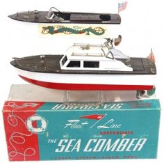 Toy Boats (2), Japanese Speed Boat W/dragon Decal