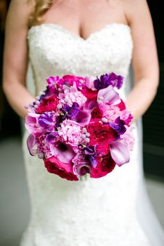 This pink and purple bouquet is STUNNING!!