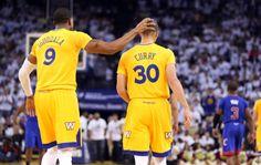 Golden State Warriors Andre Iguodala, Stephen Curry