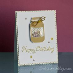 #Lawn Fawn Jar Shaker Card with Sequins