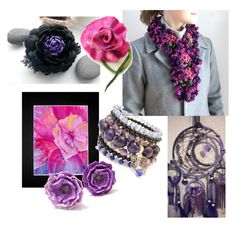 """Purple & Pink"" by overthetopcaketoppers ❤ liked on Polyvore featuring interior, interiors, interior design, home, home decor and interior decorating"