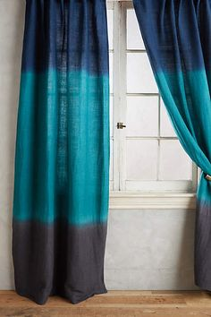 Dip-Dye Curtain - anthropologie.com