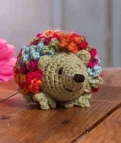 Harper Hedgehog-This cute amigurumi animal is cleverly designed with multi-color yarn for whimsical appeal.