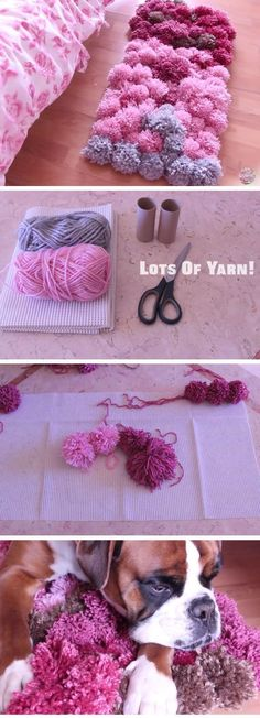 DIY Pom Pom Rug | DIY Home Decor Ideas on a Budget Living Room | Easy Decorating Ideas for the Home Hacks