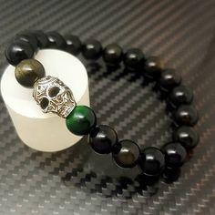Skull Bracelet, Beaded Bracelets, Groomsman Gifts, Groomsmen, Range, Bling, Luxury, Shop, Gold