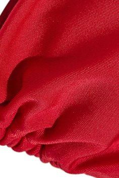 Vix - Solid Triangle Bikini Top - Red - x large