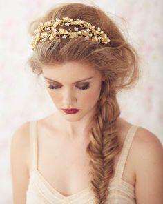 Lorelei Bridal Headband Bride La boheme headpieces