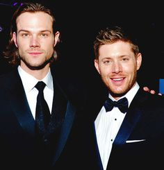Jared Padalecki and Jensen Ackles at the Critic's Choice Awards, 2014 #SupernaturalCast