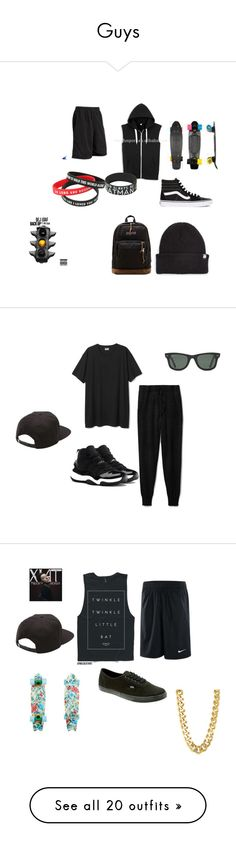 """Guys"" by arkward-poop on Polyvore featuring Vans, OBEY Clothing, JanSport, Theory, NIKE, Ray-Ban, CC SKYE, Vince, adidas and Flexfit"