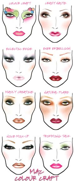 Makeup Face Charts @Premila Mathews M. Mathi  This is very nice  ! #makeup