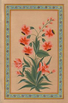 Indian Floral Painting / Mughal Miniature