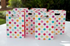 Super cute hiPP favour bags! Love the colours!