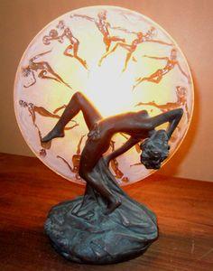 Art Deco Dancing Nude Lady Lamp | eBay