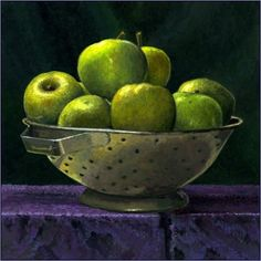 Bountiful: Bowl of Apples -- Paul Wolber Acrylic