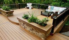 Backyard Deck Design Amazing with Patio Design Ideas And Deck . Small Backyard Decks, Decks And Porches, Backyard Patio, Patio Decks, Deck Ideas For Backyard, Backyard Projects, Backyard Deck Designs, Small Decks, Outdoor Decking