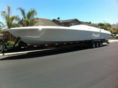 My business partner Mike Avila just bought a new 47 foot offshore racing boat.