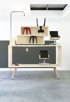 Modern Paunchy Furniture - The Belly Desk by Steuart Padwick is Deceptively Slender (GALLERY)