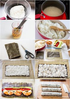 Cooked sushi rolls- step-by-step photo instructions