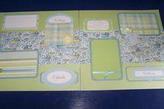Baby scrapbook page. 12 x 12 scrapbook. Baby boy by 1OfAKindCrafts