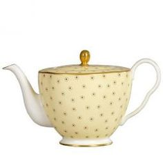 Wedgwood Polka Dot Tea Story Theepot, 0,37ltr, geel