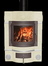 Ecco Stove ® E678 in Almond with Honey Glow Brown casting and alloy trims. #eccostove #designyourowne678 #alternativeheating
