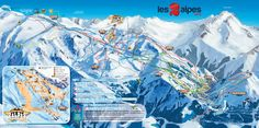 ❄⛷️ Updated Les 2 Alpes piste map 2017/2018 - Click to see large version - #skiing