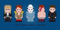 David Bowie - Cross Stitch Pattern http://pixelpowerdesign.com/shop/music/product/show/334-david-bowie