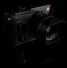 Angelo Pelle half cases with metal grip for Leica Q camera