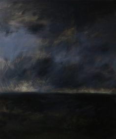 """Kacper Piskorowski """"Landscape"""", oil on board, 120-100 cm, 2015"""