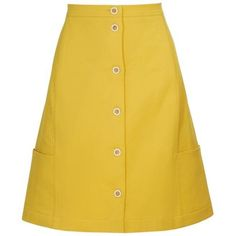 FENDI Perforated A-line cotton skirt ($595) ❤ liked on Polyvore